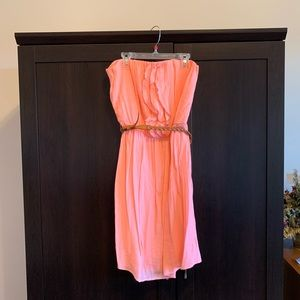 Maurices Strapless dress with  belt